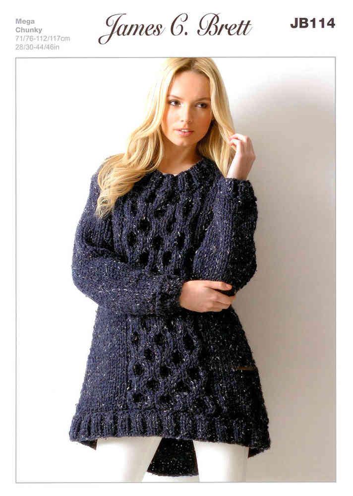 Buy Ladies Tunic JB114 Knitting Pattern Rustic Mega Chunky