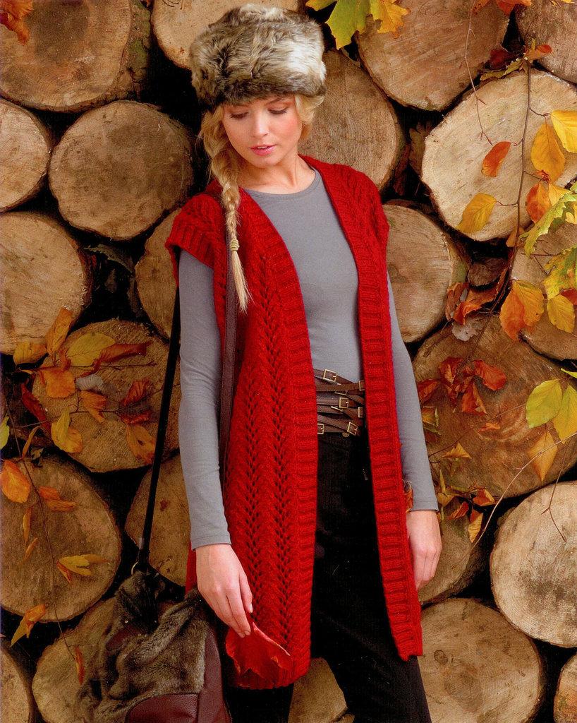 Buy Ladies Waistcoat JB099 Knitting Pattern Rustic Aran