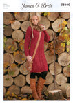 Ladies Sweater Dress JB100 Knitting Pattern Rustic Aran