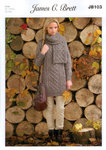 Ladies Sweater and Scarf JB103 Knitting Pattern Rustic Aran