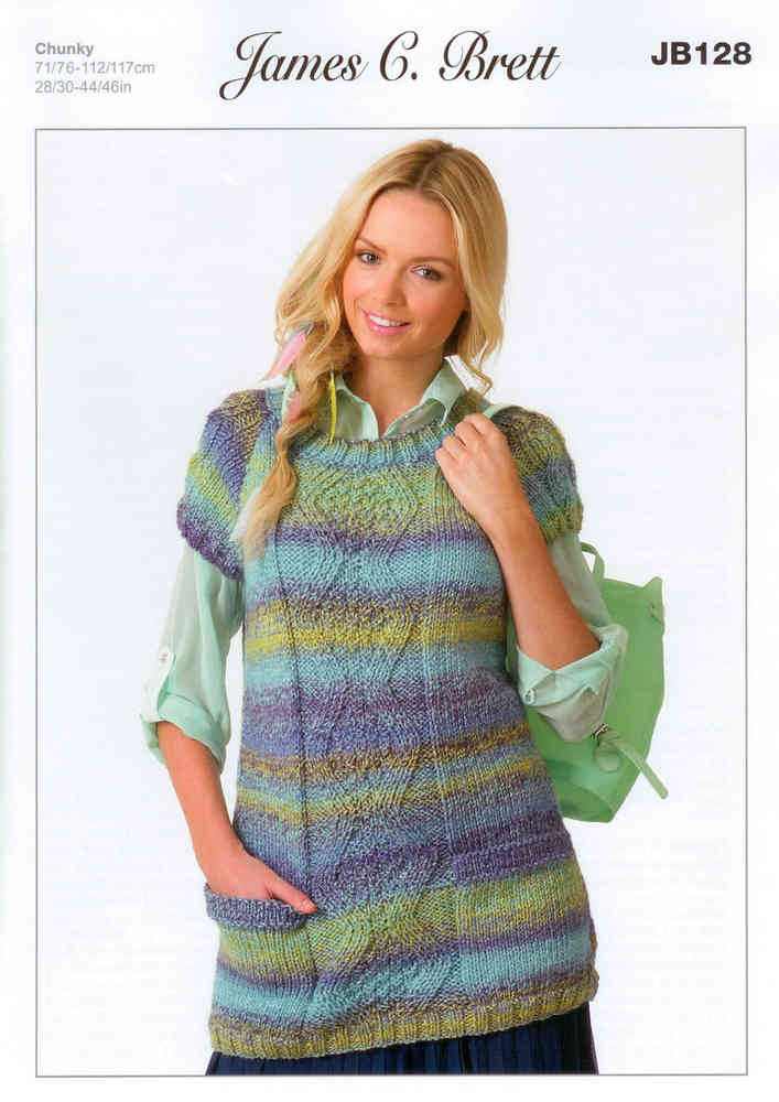 6ef0860ae6bb Buy Ladies Tunic JB128 Knitting Pattern Marble Chunky