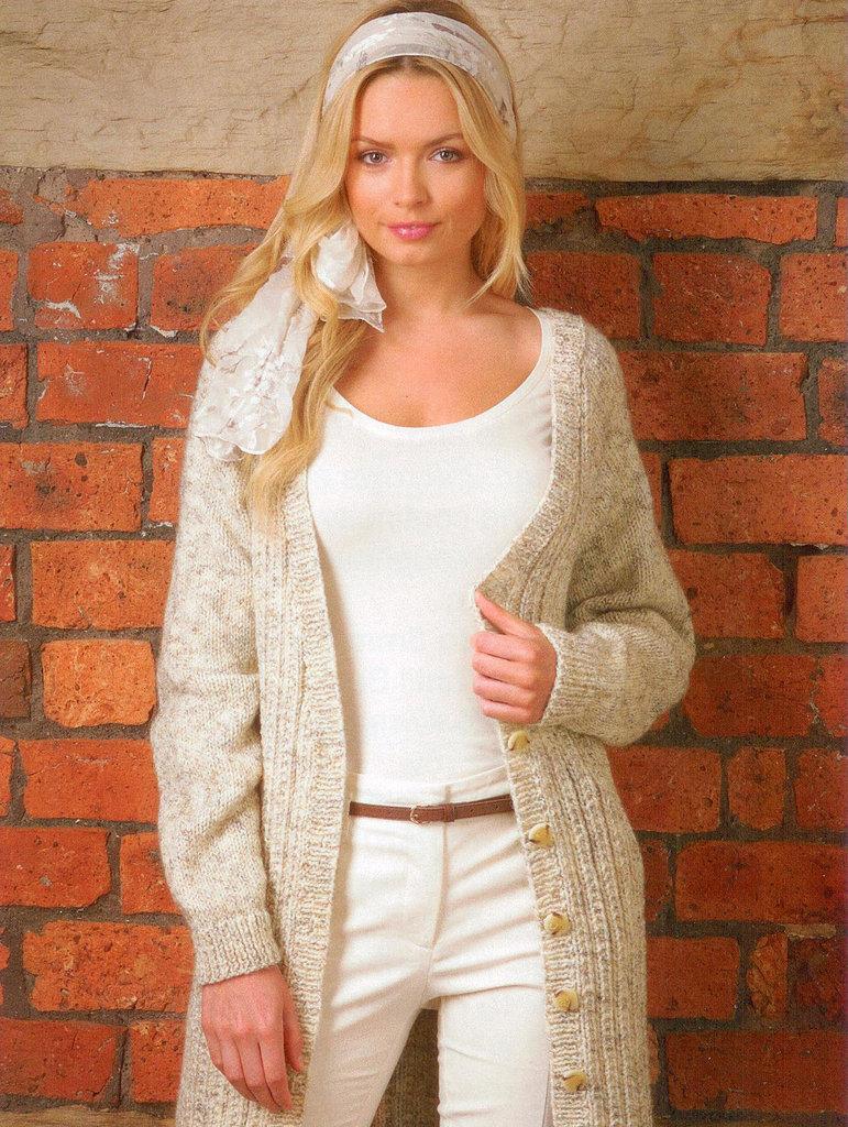 Buy Ladies Cardigan JB132 Knitting Pattern Rustic Aran