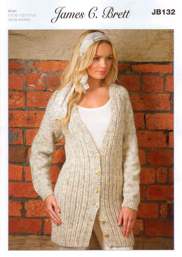 Buy Ladies Cardigan Jb132 Knitting Pattern Rustic Aran