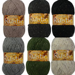 James C Brett Rustic With Wool Aran Tweed 400g