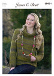 Ladies Sweater JB031 Knitting Pattern Marble Chunky