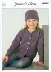 James C Brett JB182 Knitting Pattern Girls Cardigans and Hats