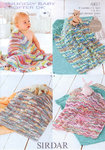 Sirdar Snuggly Baby Crofter DK 4451 Knitting Pattern Blankets