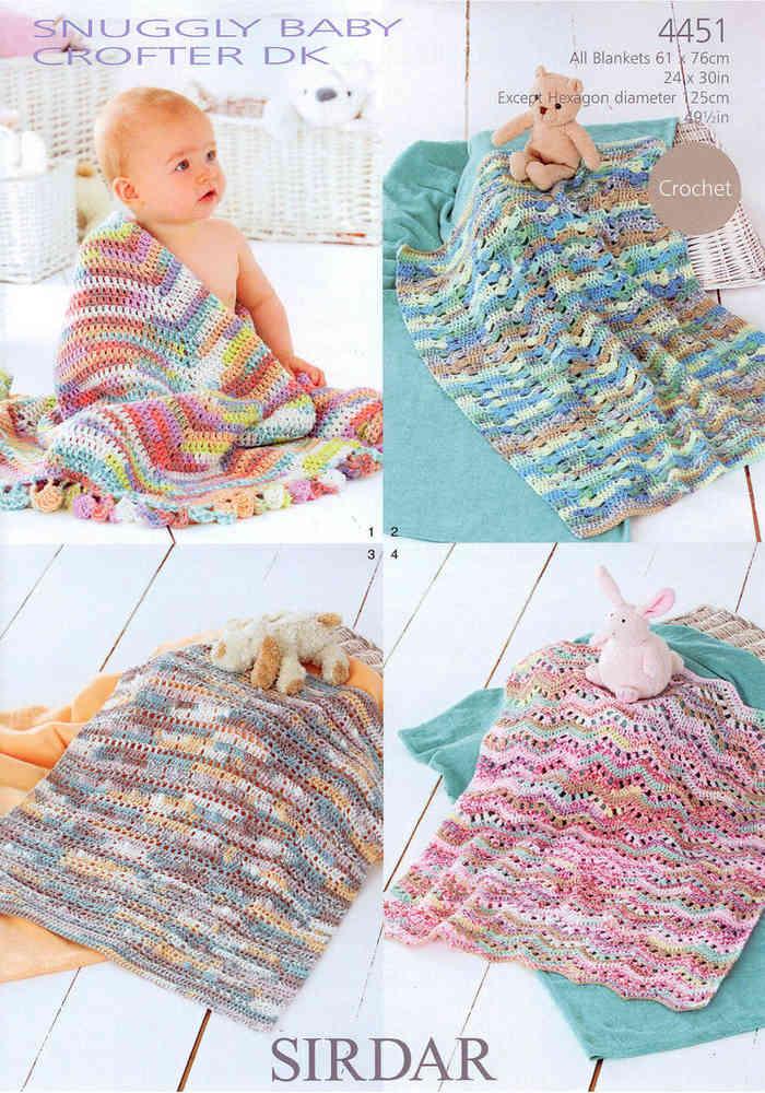 Sirdar Snuggly Baby Crofter Dk 4451 Pattern Blankets On Sale