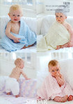Sirdar Snuggly Tiny Tots DK 1828 Knitting Pattern Blankets