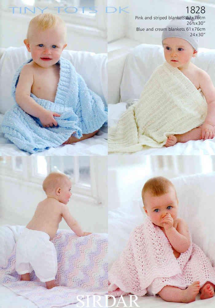 Sirdar Snuggly Tiny Tots Dk 1828 Knitting Pattern Blankets Sale