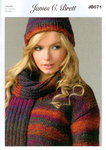 Sweater Hat and Scarf JB071 Knitting Pattern Marble Chunky