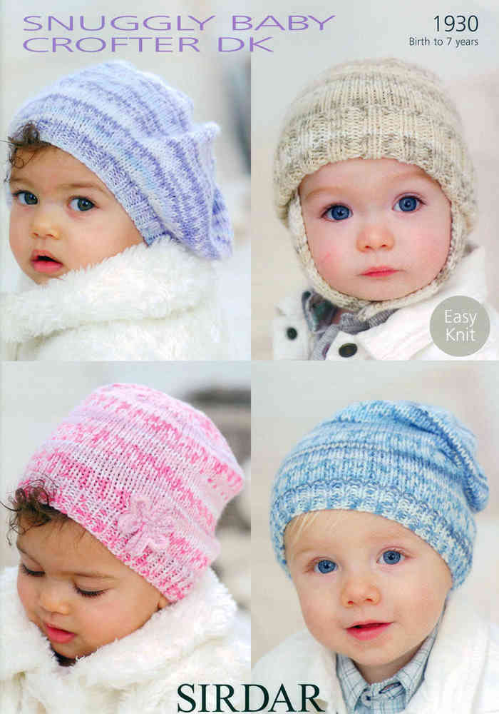 Baby and Child Hats in Sirdar Snuggly Baby Crofter DK 1930