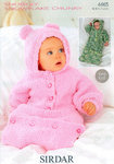 All In One In Sirdar Snuggly Snowflake 4465 Knitting Pattern