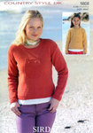 Girls and Womens Sweaters In Sirdar Country Style DK 9808 Knitting Pattern