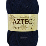 James C Brett Aztec Aran with Alpaca Knitting Wool 100g AL17 Navy