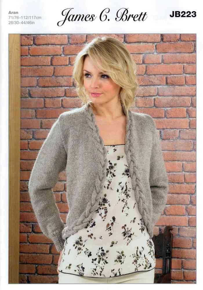 Ladies Jacket JB223 Knitting Pattern James C Brett Aran on Sale