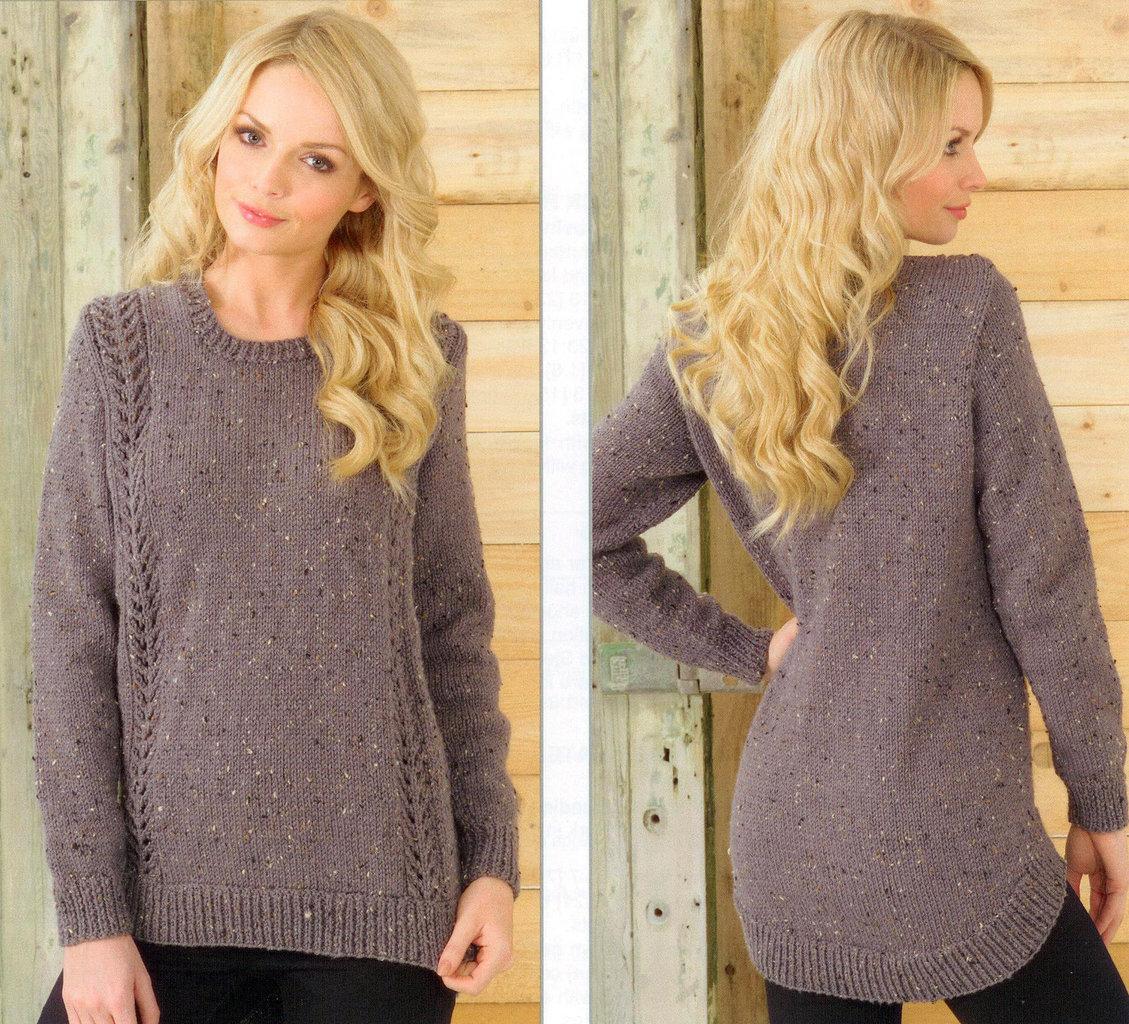 5956ba685 ... Sweaters JB213 Knitting Pattern James C Brett Aran ...
