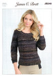 Ladies Sweater JB248 Knitting Pattern in Marble Chunky