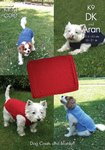 King Cole K9 Knitting Pattern Dog Coats and Blanket in King Cole Big Value DK and Fashion Aran