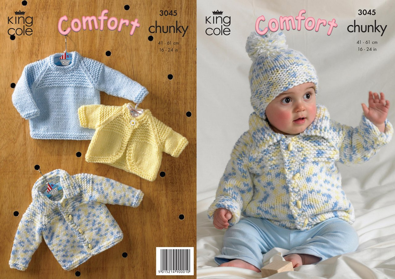 King Cole 3045 Knitting Pattern Sweater, Jacket, Bolero and Hat in ...