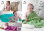King Cole 3393 Knitting Pattern Babies Blankets in King Cole Comfort Chunky