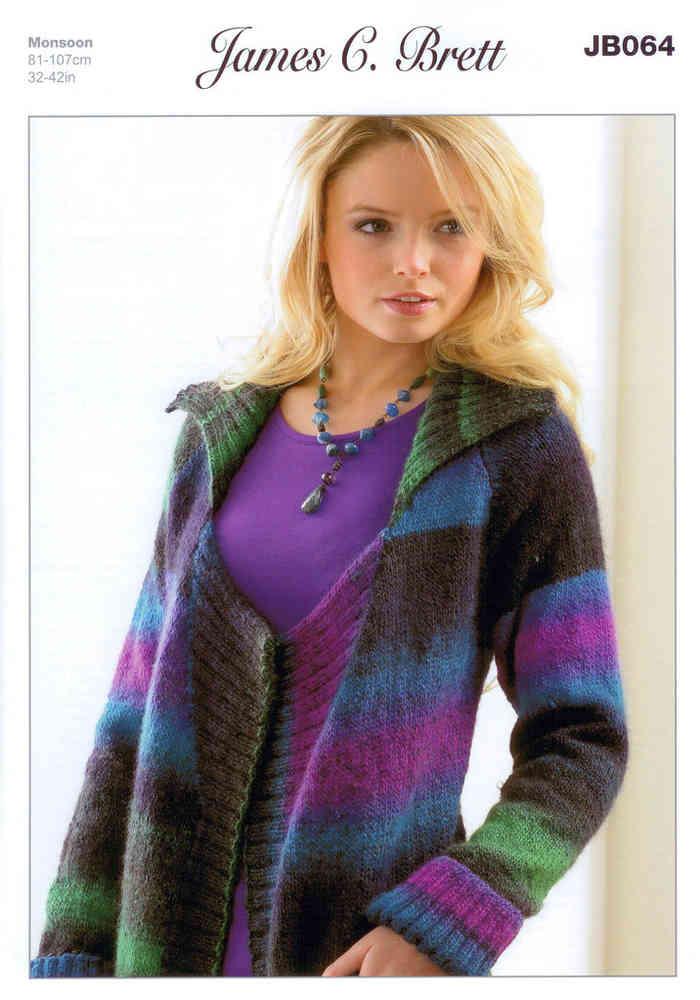 James Brett Knitting Pattern Ladies Marble Chunky Long Sleeve Cable Jumper JB454