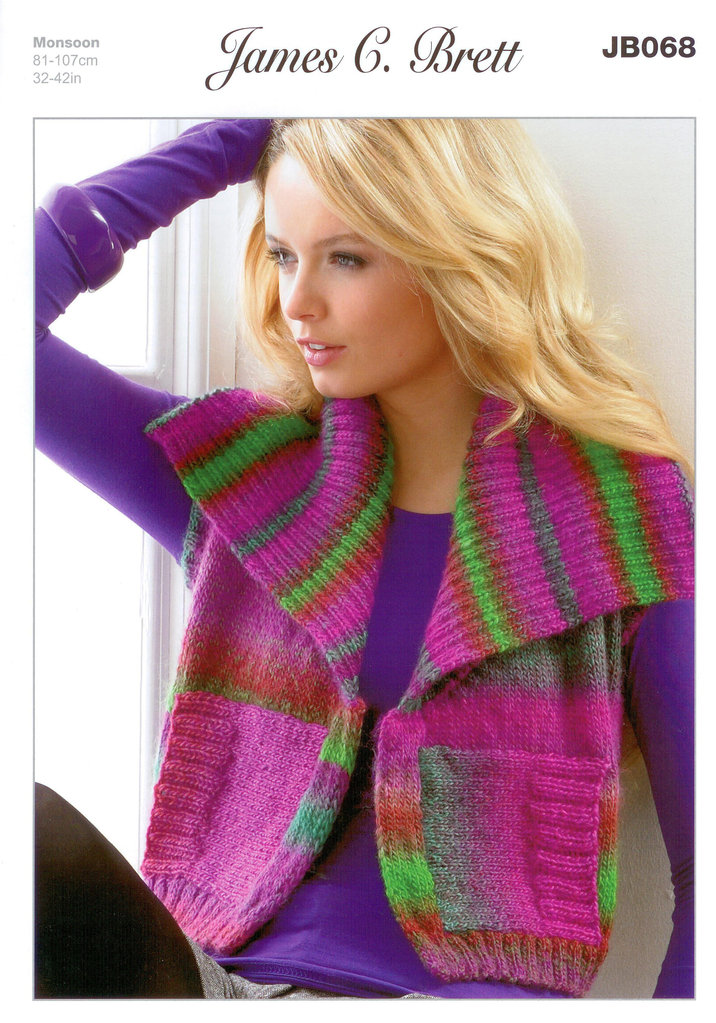 Buy Ladies Waistcoat Jb068 James C Brett Knitting Pattern