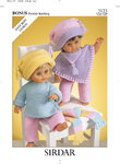 Sirdar 3123 Knitting Pattern Doll's Outfit in Hayfield Baby Bonus DK