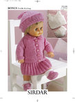 Sirdar 3119 Knitting Pattern Doll's Outfit in Hayfield Baby Bonus DK