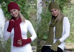 King Cole 3274 Knitting Pattern Hat, Scarves and Gloves in King Cole Baby Alpaca DK