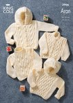 King Cole 2906 Knitting Pattern Sweaters & Jackets in King Cole Bounty Aran
