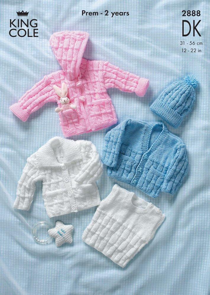 de570839f King Cole 2888 Knitting Pattern Cardigans. Jacket