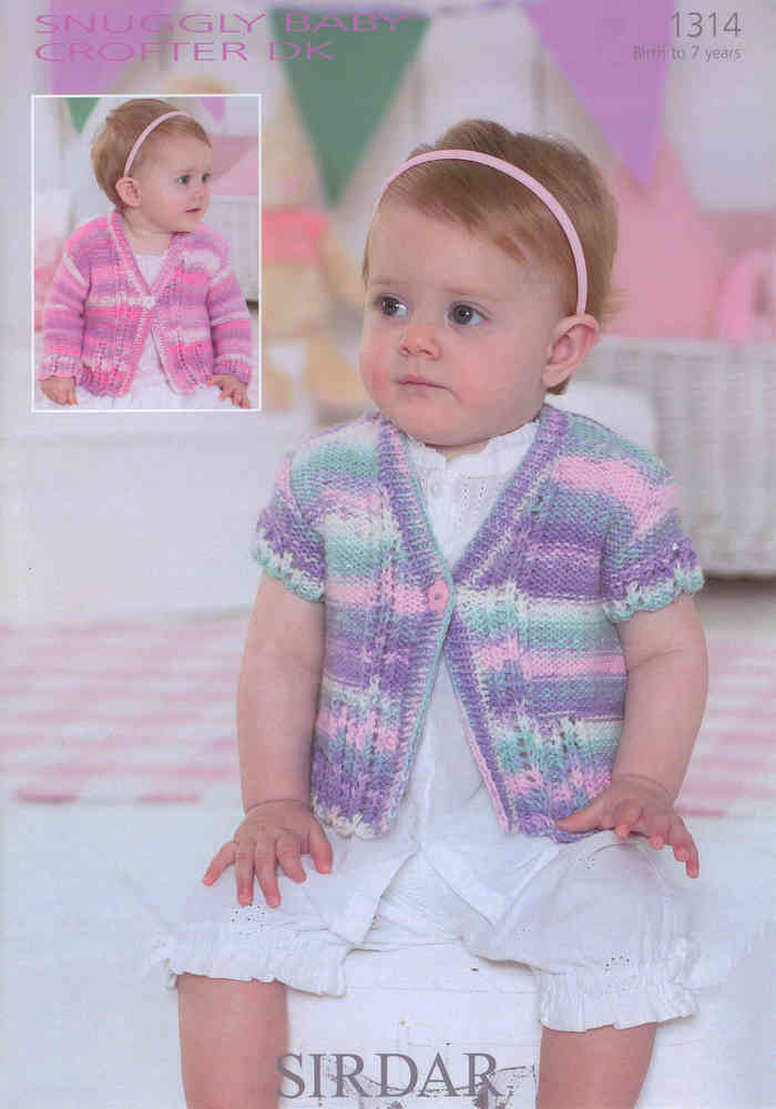 46848ebfe96e Cardigans in Sirdar Snuggly Baby Crofter DK 1314 Knitting Pattern