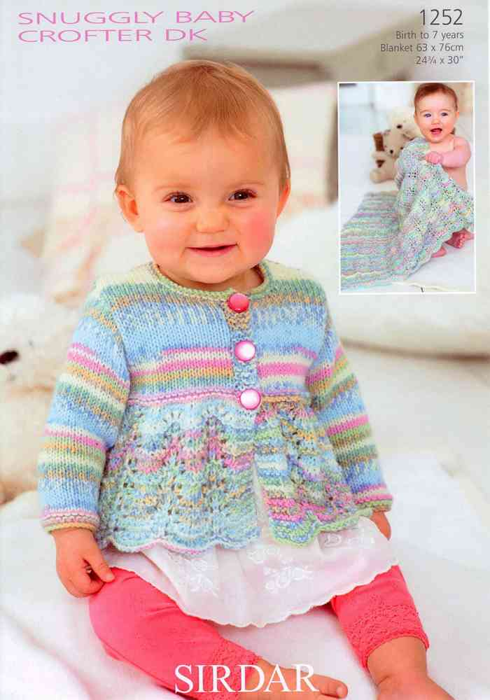 4937aa8e4 Cardigan and Blanket in Sirdar Baby Crofter DK 1252