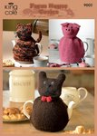 King Cole 9002 Knitting Pattern Cat Pig and Dog Cosies