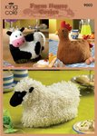 King Cole 9003 Knitting Pattern Cow Hen and Sheep Cosies