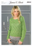 Ladies Jumper JB243 James C Brett Oyster Knitting Pattern