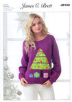 Ladies Christmas Tree Jumper JB189 Knitting Pattern