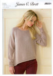 Ladies Sweater JB231 James C Brett Knitting Pattern