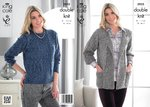 King Cole 3935 Knitting Pattern Jacket and Sweater in King Cole Moods Duet DK