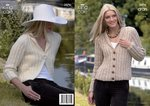 King Cole 3076 Knitting Pattern Cardigan and Bolero Knitted in King Cole Fashion Aran