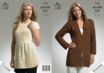 King Cole 3132 Crochet Pattern Crochet Jacket and Tunic in King Cole Bamboo Cotton DK