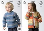 King Cole 3146 Knitting Pattern Sweater & Cardigan in King Cole Splash DK