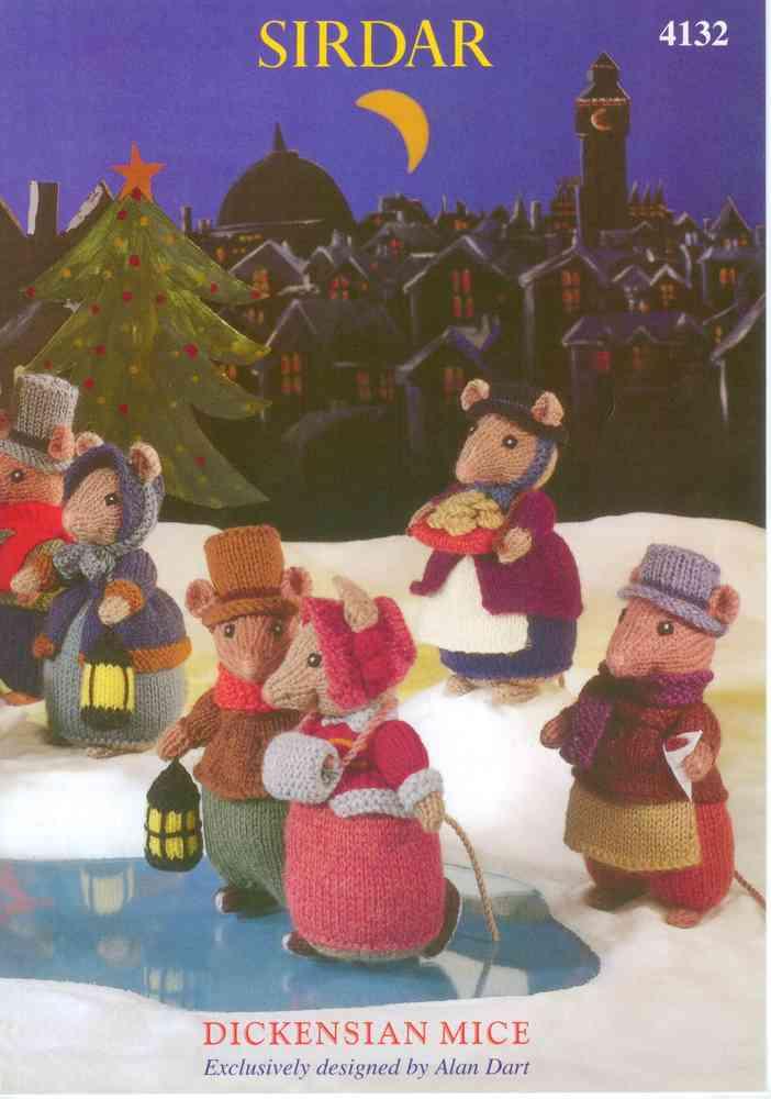 Sirdar 4132 Knitting Pattern Dickensian Mice By Alan Dart In Country