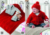 King Cole 3706 Knitting Pattern Baby Jacket, Hat and Blanket in King Cole Comfort Chunky