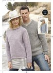 Sirdar 8940 Knitting Pattern Family Sweaters in Sirdar Click Chunky