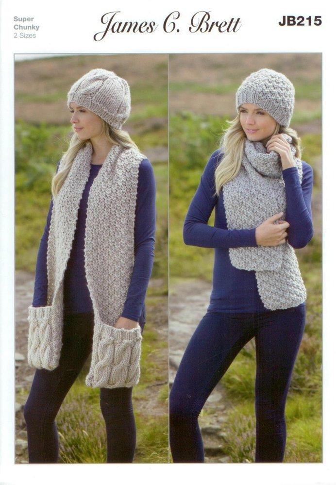 James C Brett Jb215 Knitting Pattern Ladies Hats And Scarves In