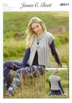 James C Brett JB217 Knitting Pattern Ladies Waistcoat in Amazon Super Chunky