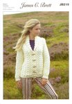 James C Brett JB219 Knitting Pattern Ladies Jacket in Amazon Super Chunky