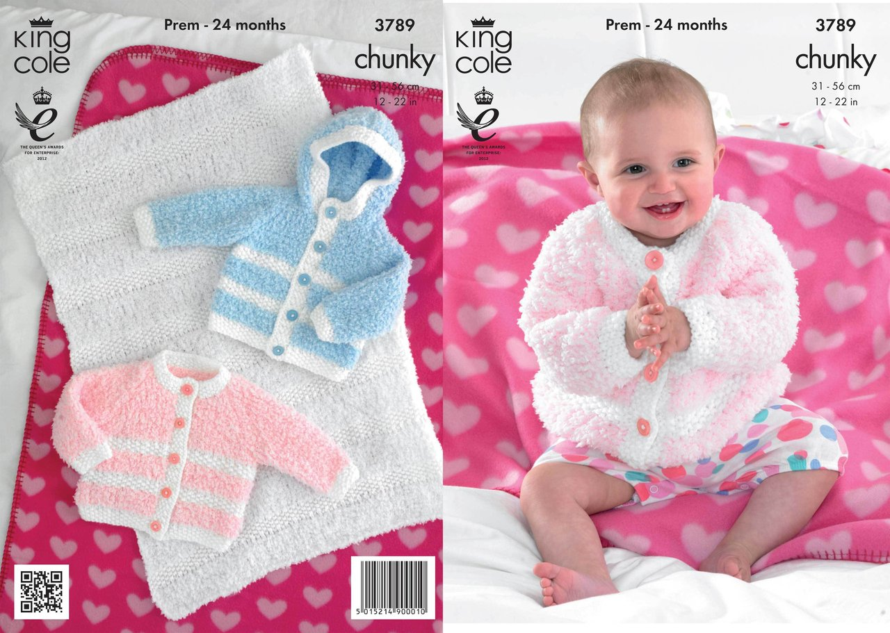King Cole 3789 Crochet Pattern Jackets and Blanket in King Cole ...